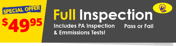 Complete Vehicle Inspection.