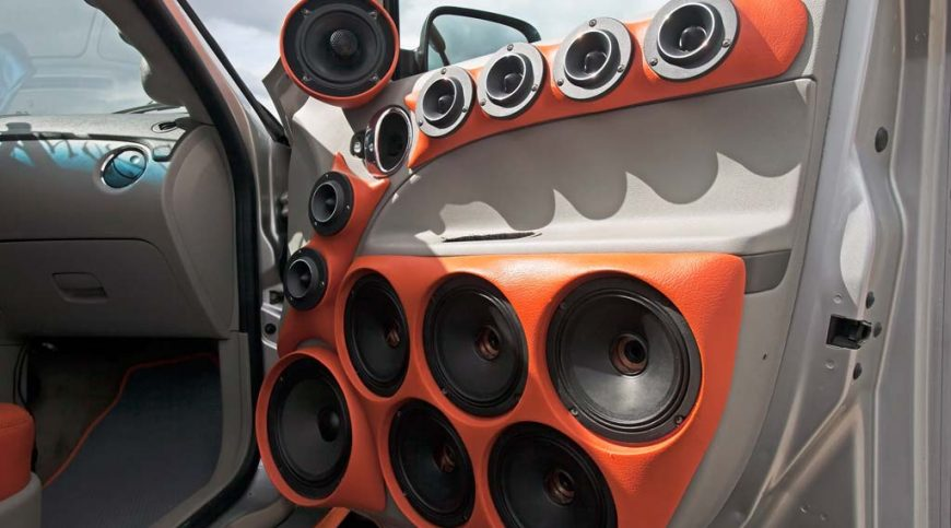 Ways to upgrade a vehicle's sound system.
