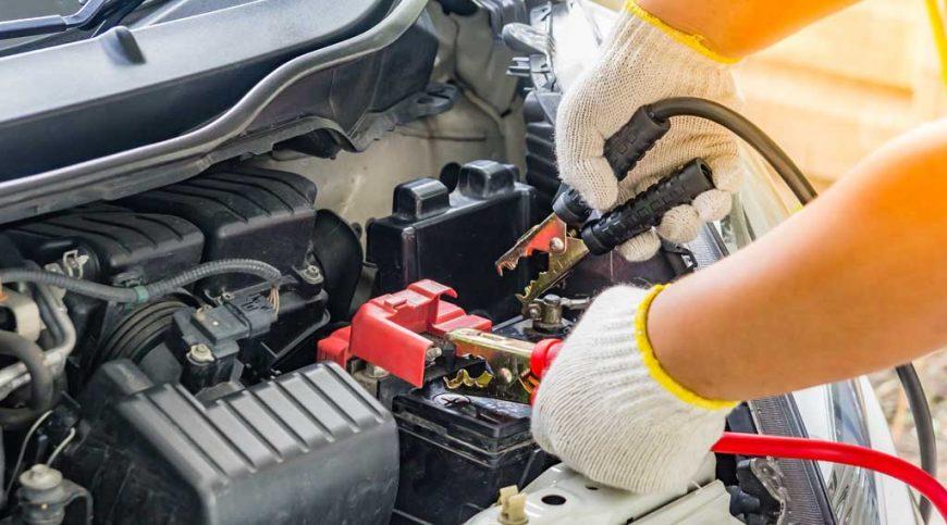 Jump-start a car battery