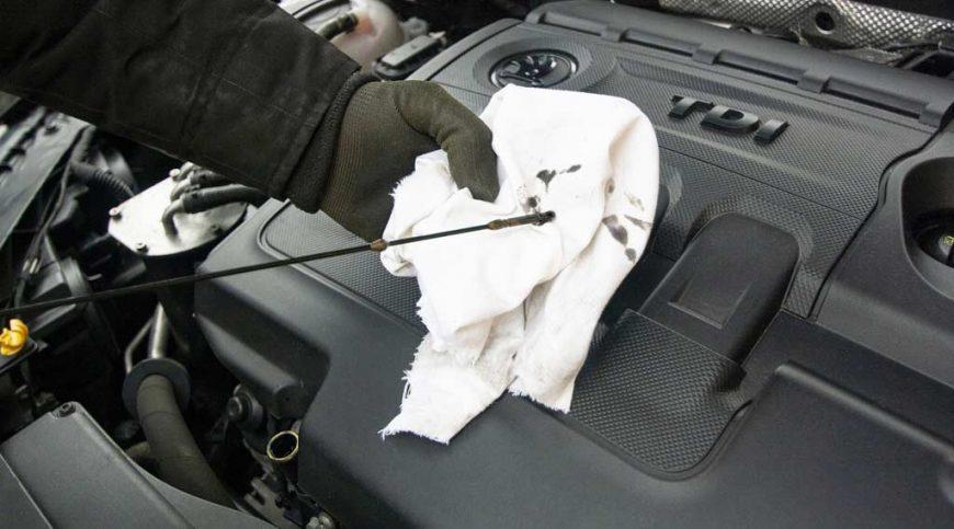 An automobile's motor oil